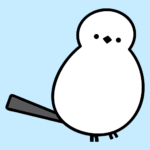 Small simaenaga bird sticker
