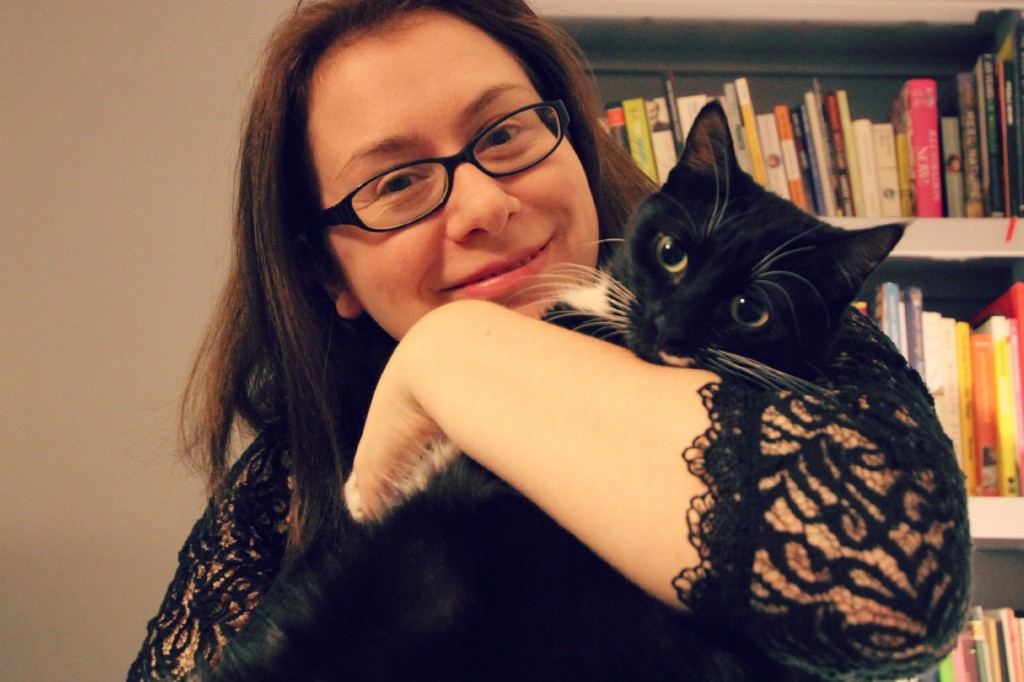 Photo of Bonny Colville-Hyde with Kiki the cat