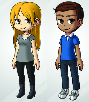 Two simple characters created with MogiMe